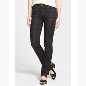 EILEEN FISHER BLACK STRAIGHT LEG JEANS